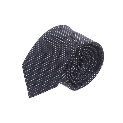 עניבה נקודות שחור לבן