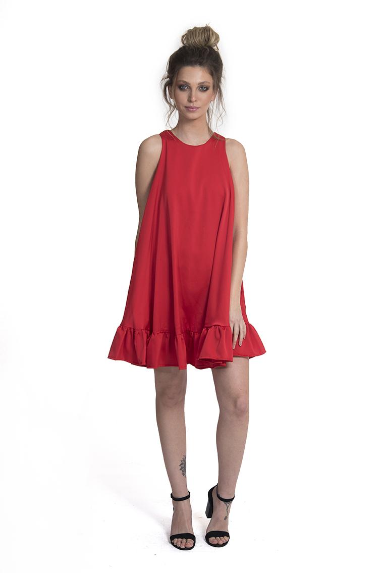 שמלה ג'וי אדום