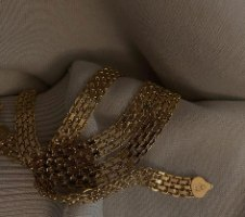 צמיד רשת לילי זהב
