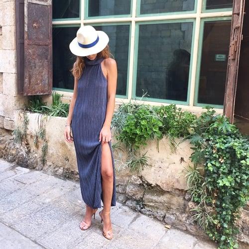 שמלת קרלה אפורה