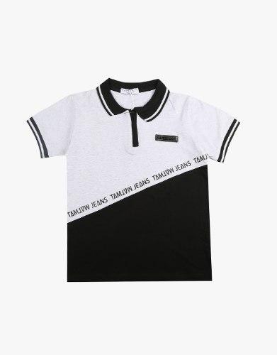 חולצה קצרה פולו 2 חצאי צבעים