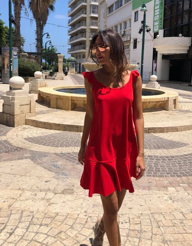 שמלת לולו אדומה