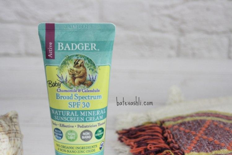 קרם הגנה Badger|תינוקות 30spf