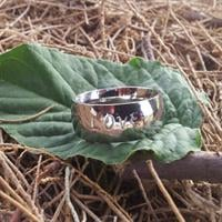 טבעת שמות דקה מבריקה