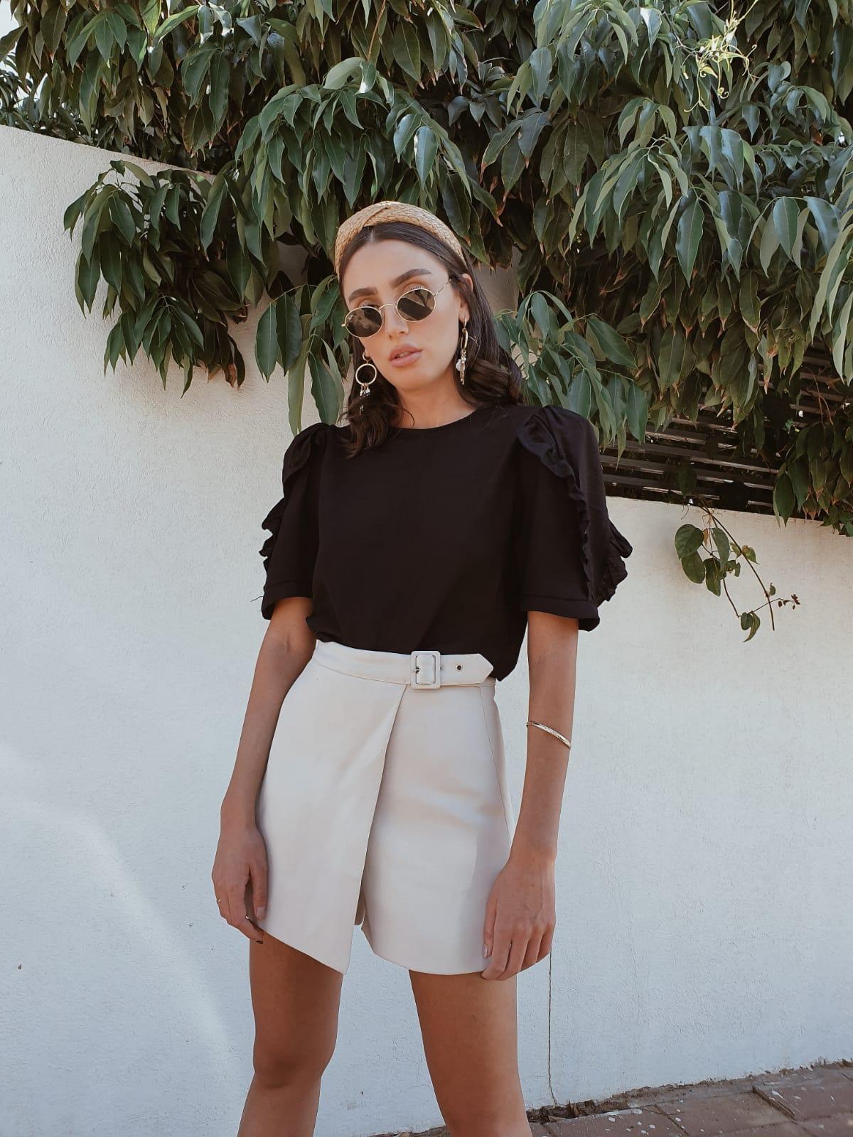 חולצת מרלן - שחורה