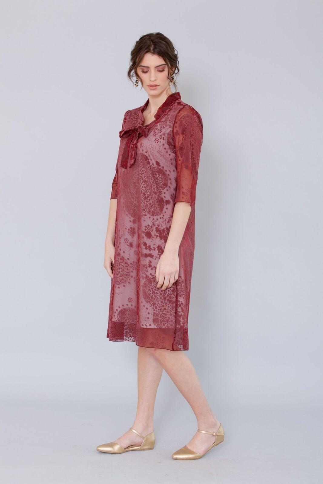 שמלת אלזה בורדו