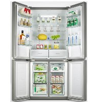 מקרר 4 דלתות NO FROST מקפיא תחתון 506 ליטר תוצרת AMCOR דגם AM4550GW זכוכית לבן