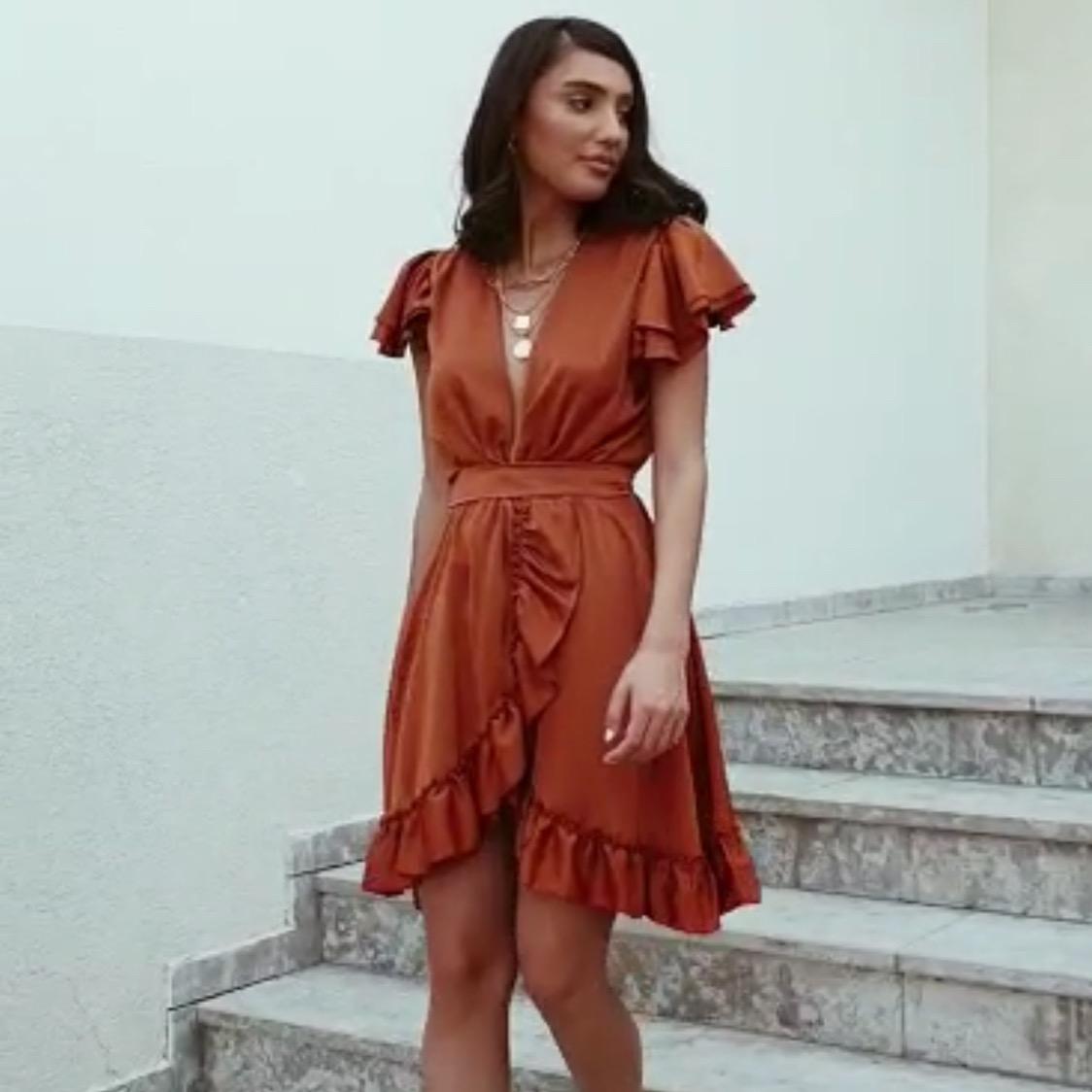 שמלת פנלופי מעטפת - בריק