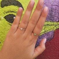 טבעת אמרלד 0.25 בזהב 14 קראט