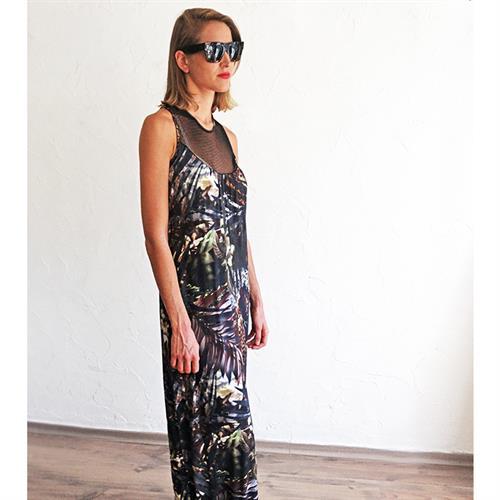 שמלת EVER ג'רסי הדפס טרופי