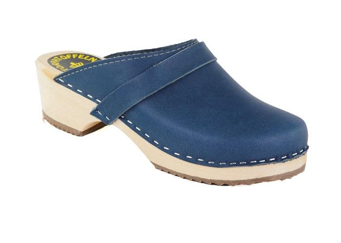 קבקבי עץ כחול ג'ינס מט