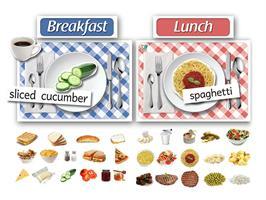 ערכה ללימוד הארוחות |  Dinner-time Poster