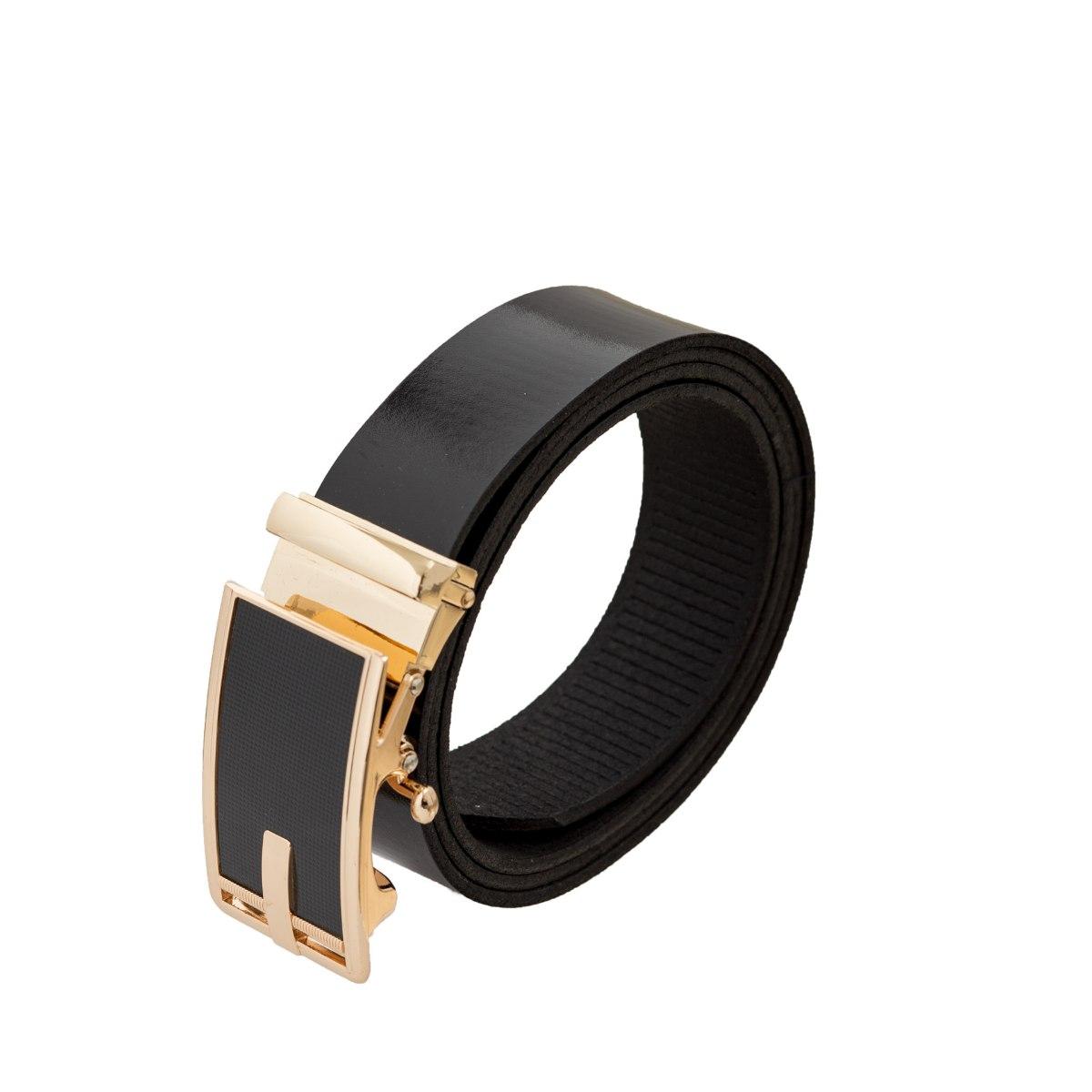 חגורה עור קלאץ אבזם זהב