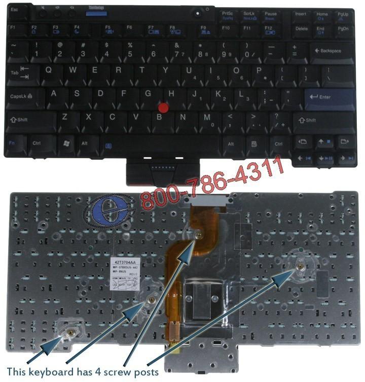 מקלדת למחשב נייד - משווק מורשה Lenovo Ibm ThinkPad X200 Keyboard 42T3671 / 42T3767 / 42T3734
