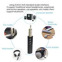 מתאם Bluetooth אוניברסלי לרכב עם חיבור Aux כולל מיקרופון