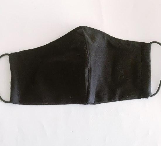 מסכת בד דו שכבתית לכיסוי הפנים צבע שחור דגם קלאסי