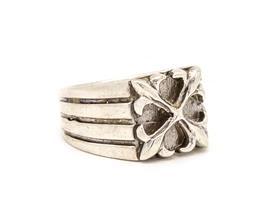 טבעת זרת לגבר- כסף