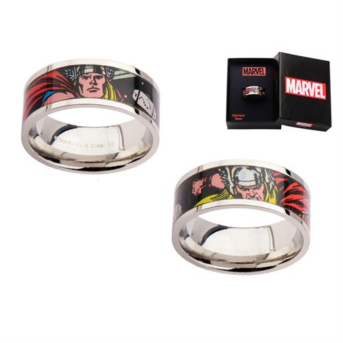 טבעת קומיקס ת׳ור פלדת אל-חלד MARVEL הנוקמים לגברים / נשים