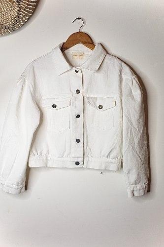 ג'קט ג'ינס ריינבו לבן