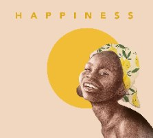HAPPINESS- הדפס ציור על קנבס גדול