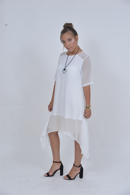 שמלת מואיז לבנה