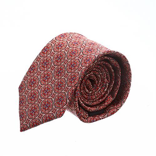 עותק של עניבה פרחים סימטרים אדום משולב