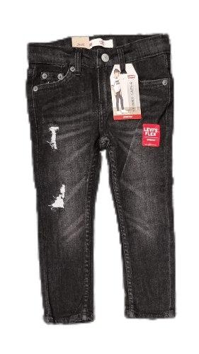 ג'ינס סקיני שחור משופשף LEVIS (2-16)