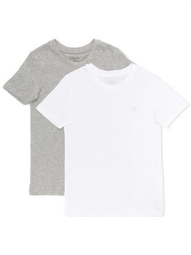 CALVIN KLEIN 2 PACK T WHITE GREY