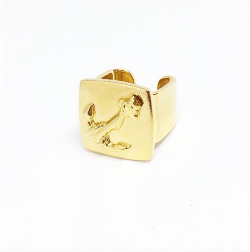 טבעת חותם עוגן זהב