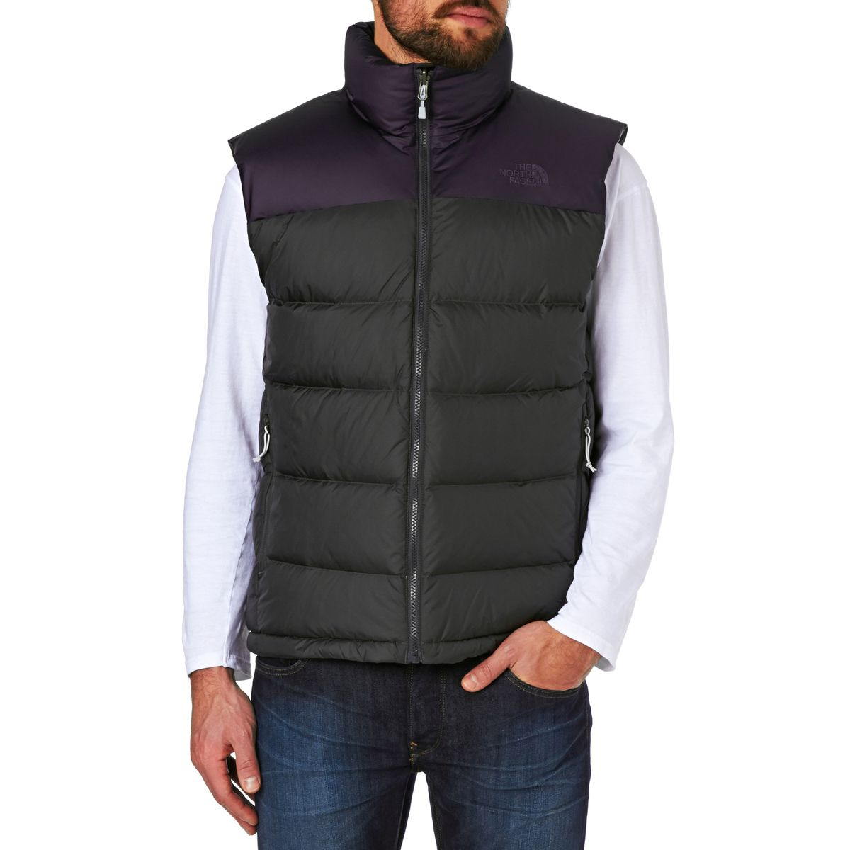 מעיל ללא שרוולים נורת פייס גברים מדגם  The North Face Men's Nupste 2 Vest grey/purple