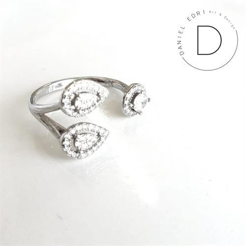 טבעת צורות פתוחה- כסף