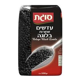 עדשים שחורות סוגת - 500 גרם