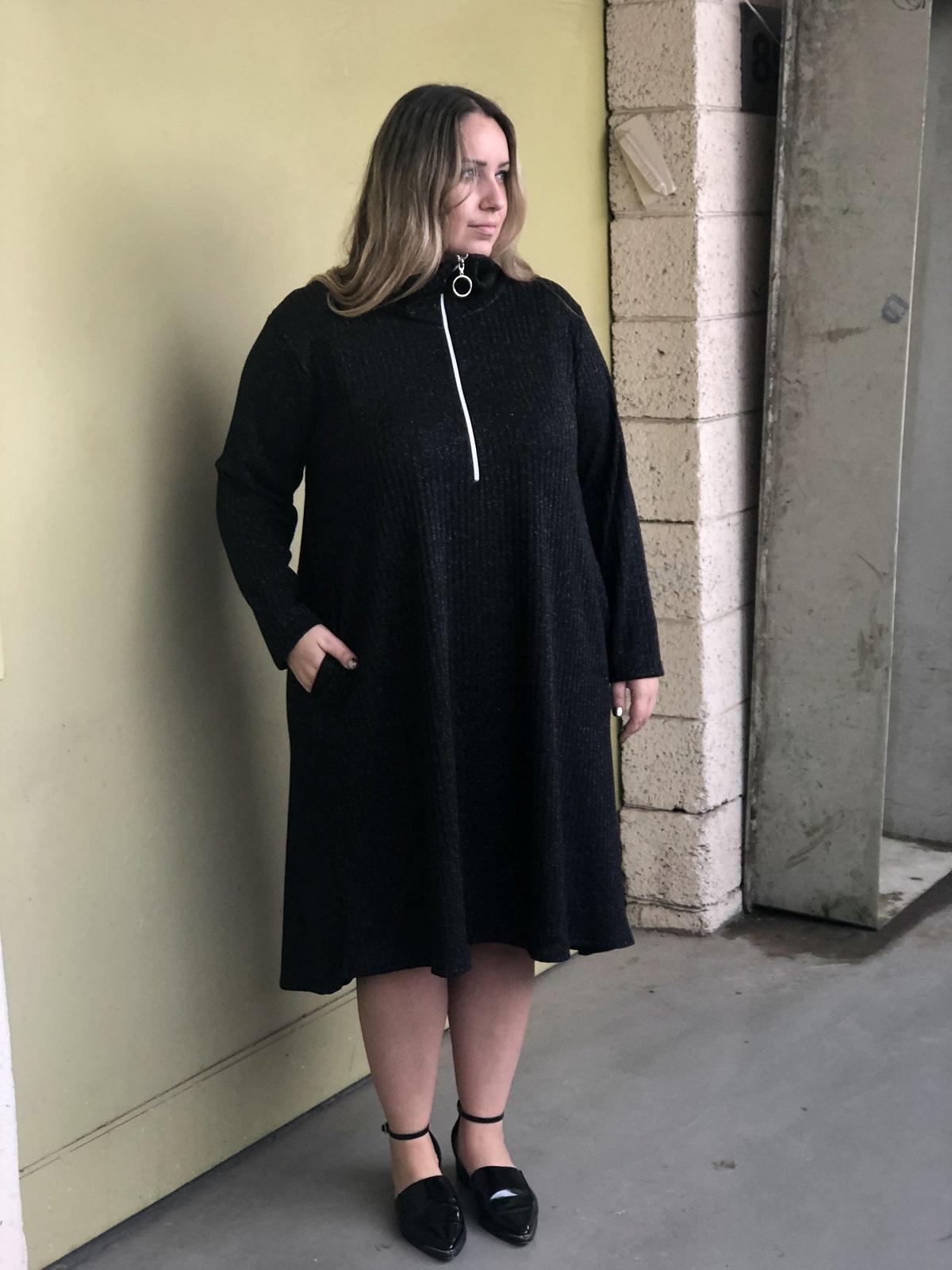 שמלת פריז ריב שחור