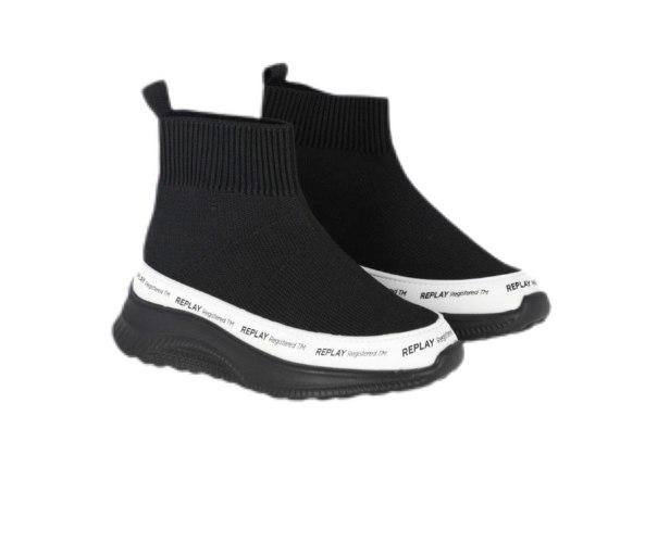 נעל גרב שחורה REPLAY - מידות 21-27