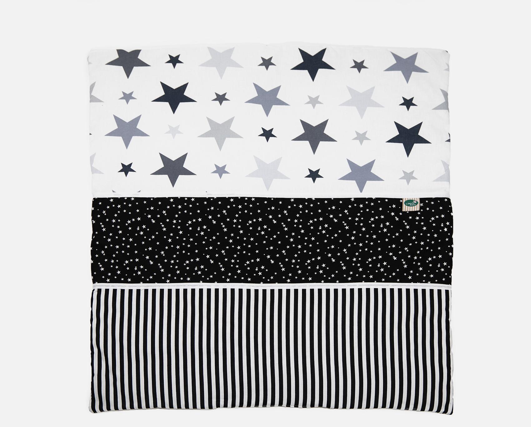 שמיכה לעריסה שחור כוכבים
