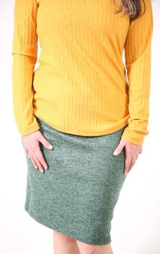 חצאית ישרה ירוקה