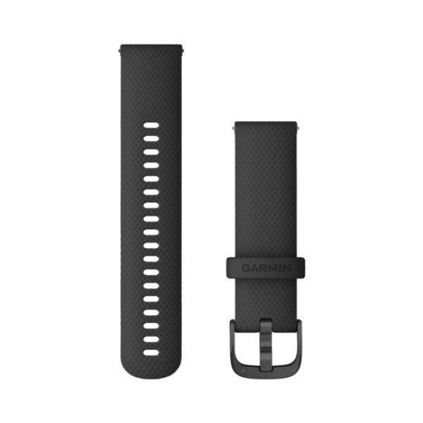 רצועה מקורית שחורה לשעון גרמין Garmin Vivoactive 4 / Venu 2 Quick Release Band 22mm