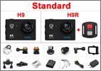 STANDART - מצלמת אקשן  EKEN 4K דגם H9 מקורית! Ultra HD 4K WiFi 1080P/30fps