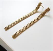 עגילי קלייר ארוכים זהב
