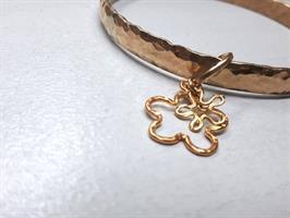 צמיד בנגל בוהמייני קשיח גולדפילד זהב עבודת יד