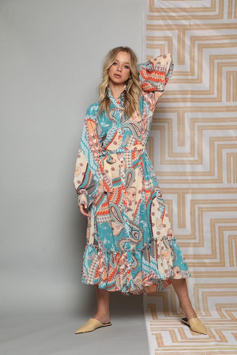 שמלה מקסי שיפון אשלי