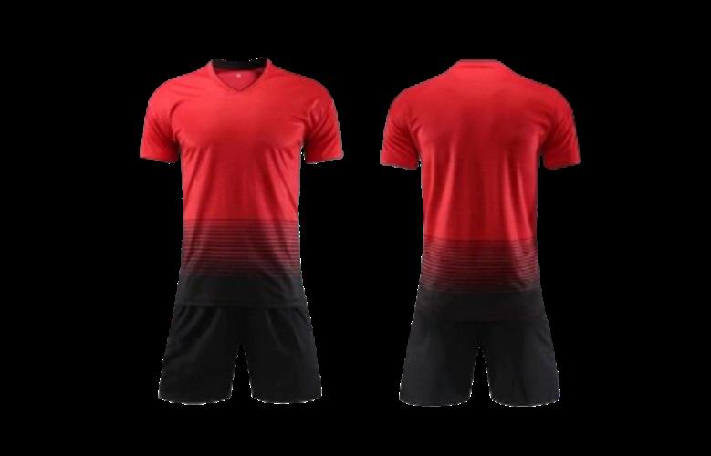 תלבושת אדום שחור דמוי מנצסטר יונייטד 2020