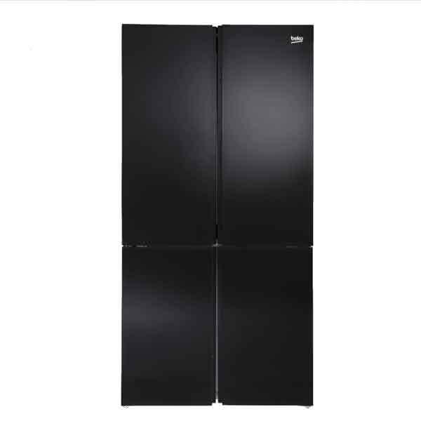 מקרר בקו  4 דלתות GN-1406221gb זכוכית שחורה