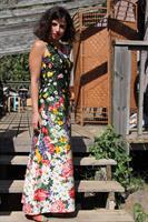 שמלת מקסי פרחונית שנות ה-70 מידה M/L