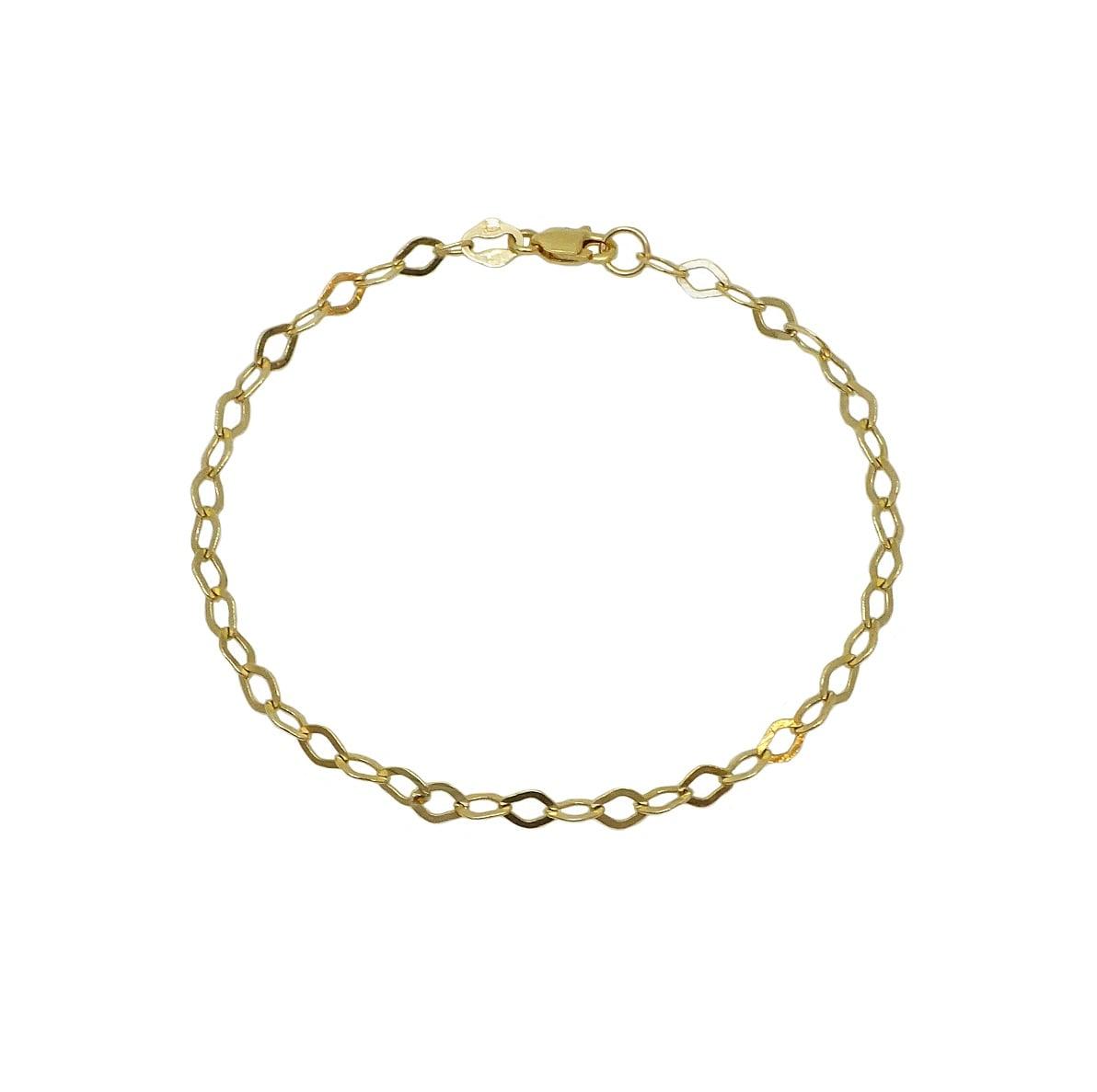 צמיד זהב חוליות לאישה צמיד עדין וקלאסי