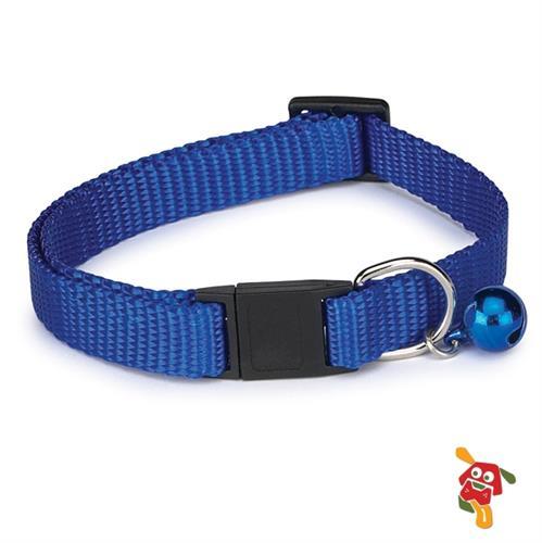 קולר לחתול - כחול עם פעמון