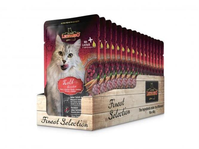 מחית לאונרדו מזון טבעי לחתולים