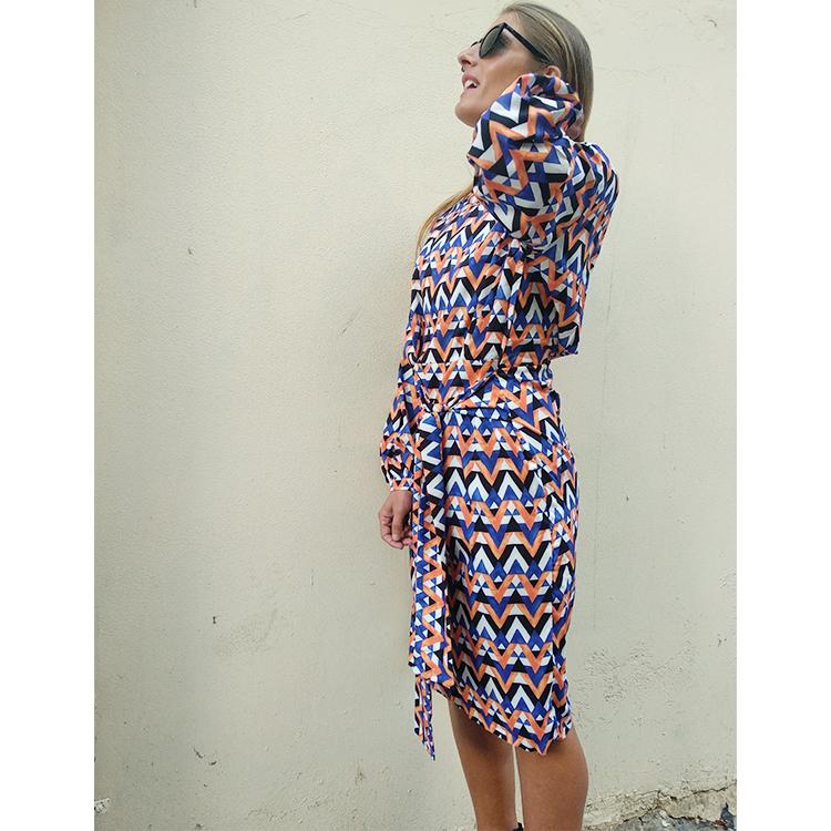שמלת נרי מודפסת