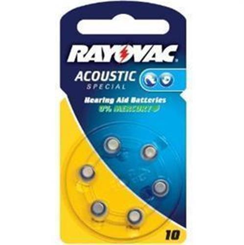 סוללות למכשירי שמיעה RAYOVAC 10