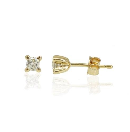 זוג עגילי יהלום מיוחדים 0.30 קראט